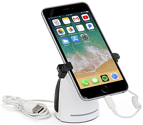 White Adjustable Anti-Theft Cell Phone Store Display