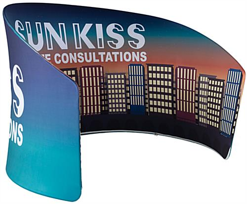 9'h Curved Exhibit Banner Stand