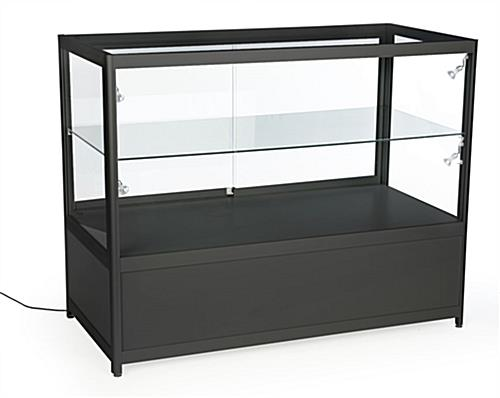 Black Knock Down Display Counter for Retail Stores