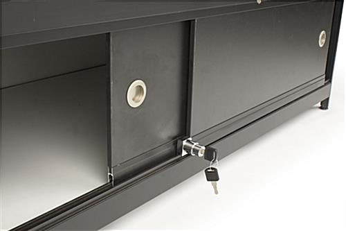Black Knock Down Display Counter Storage Doors