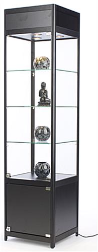Glass Cabinet With Lock Ships Unassembled