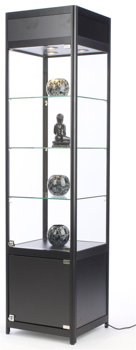 Glass Cabinet With Lock Frameless Design