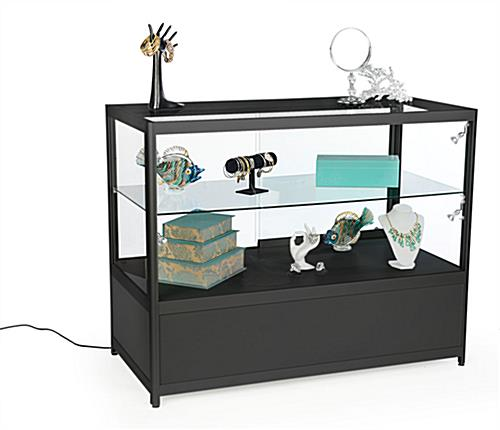 LED Retail Store Counter, Black
