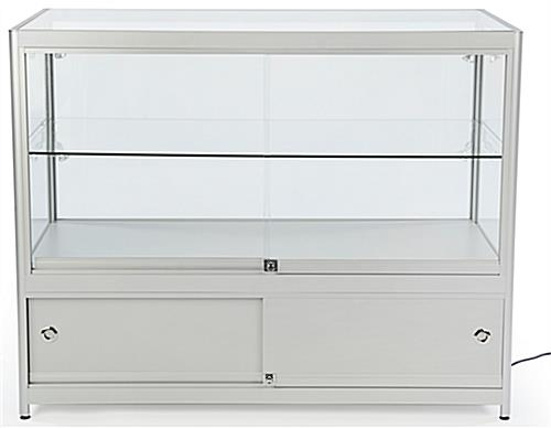 "LED Store Display Counter, 11.25"" Cabinet Height"