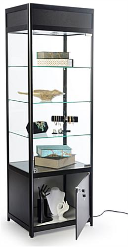 Propped Knock Down Tower Display Case