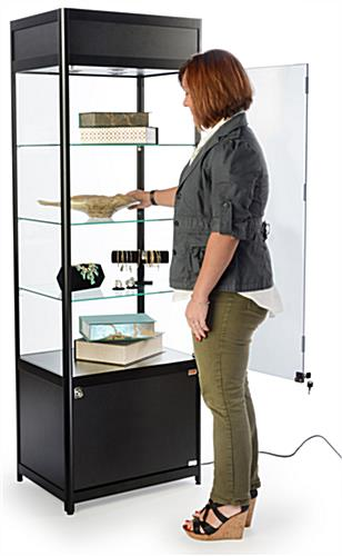 Knock Down Tower Display Case for Retail Stores