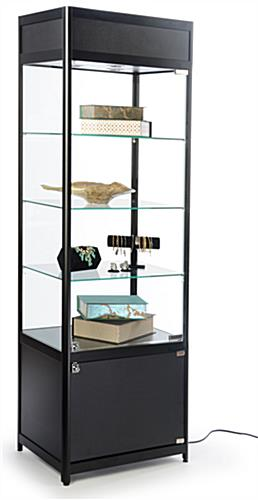 Knock Down Tower Display Case Full View