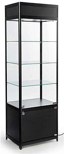 "LED Retail Display Tower, 16.5"" Shelf Depth"