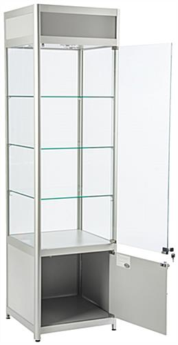 "LED Store Display Case, 18"" Cabinet Depth"
