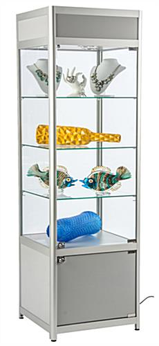 "LED Store Display Case, 56"" Overall Height"