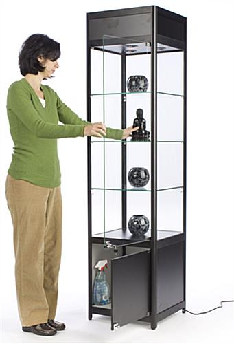 "LED Display Case Tower, 16.625"" Shelf Width"