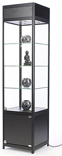 LED Display Case Tower, Black