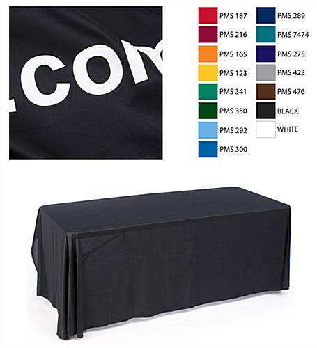 table covers include custom text