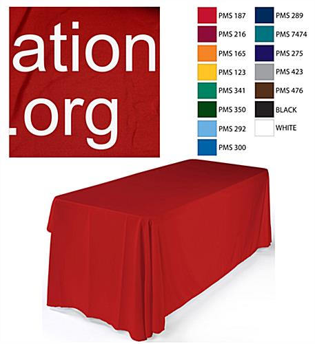 red table drape
