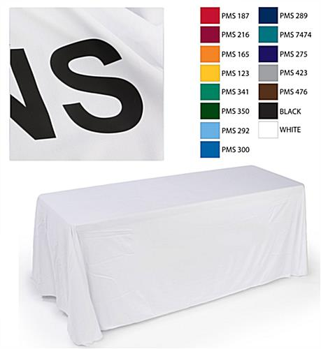 24 hour white display table cover custom text front for Table th font color