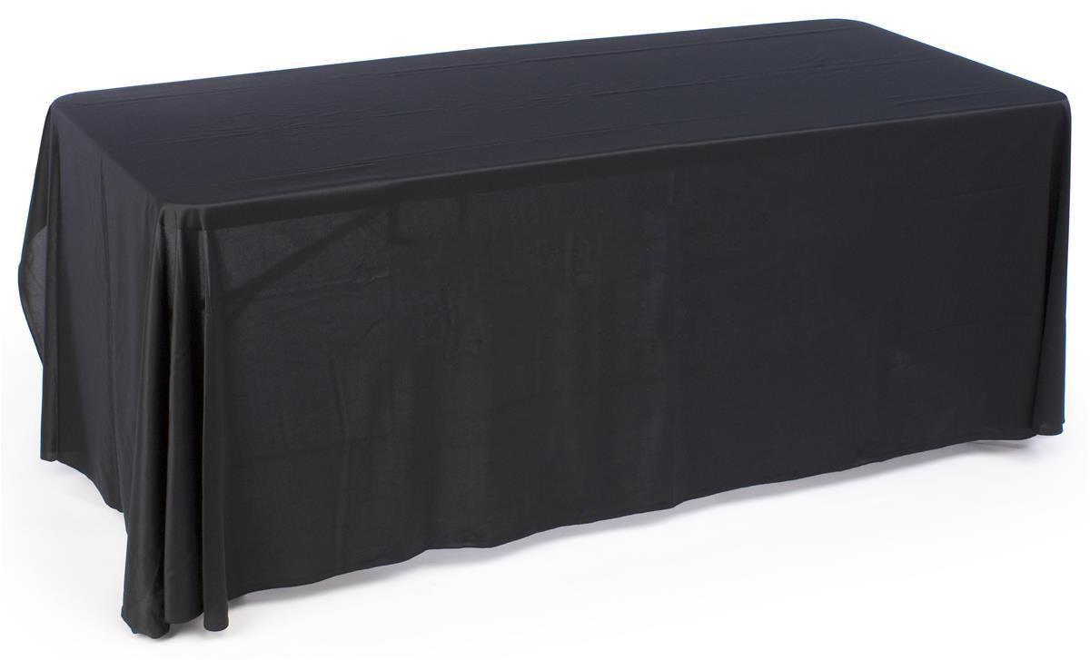 Black Plain Table Cover 6 Ft Long
