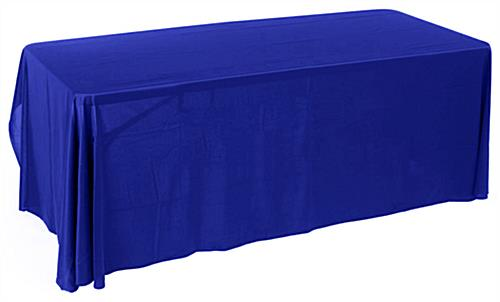 6ft Economy Royal Blue Table Cover Trade Show Accessory