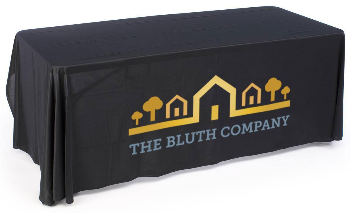 Custom Logo Tablecloths For Exhibition Use With Custom Logo