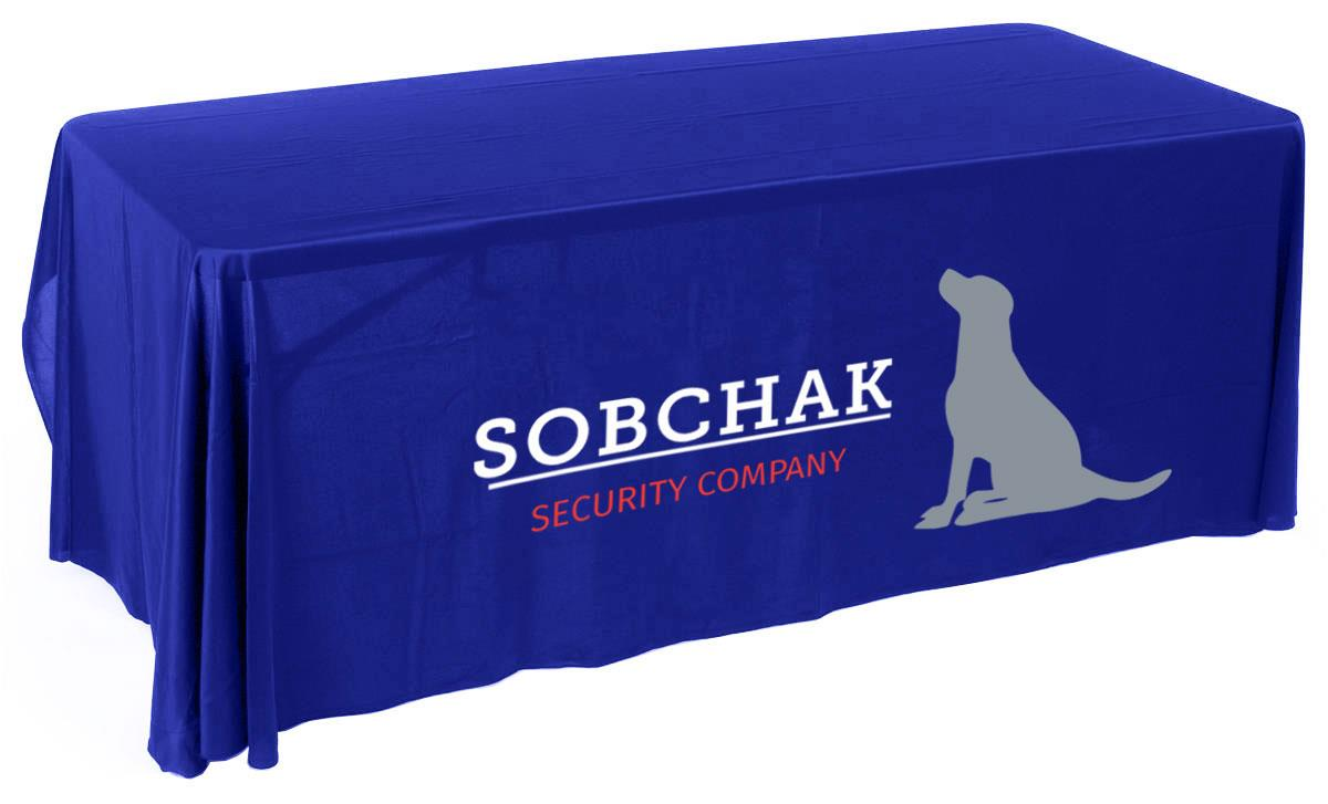 Logo Tablecloth Custom Printed In Various Colors Styles