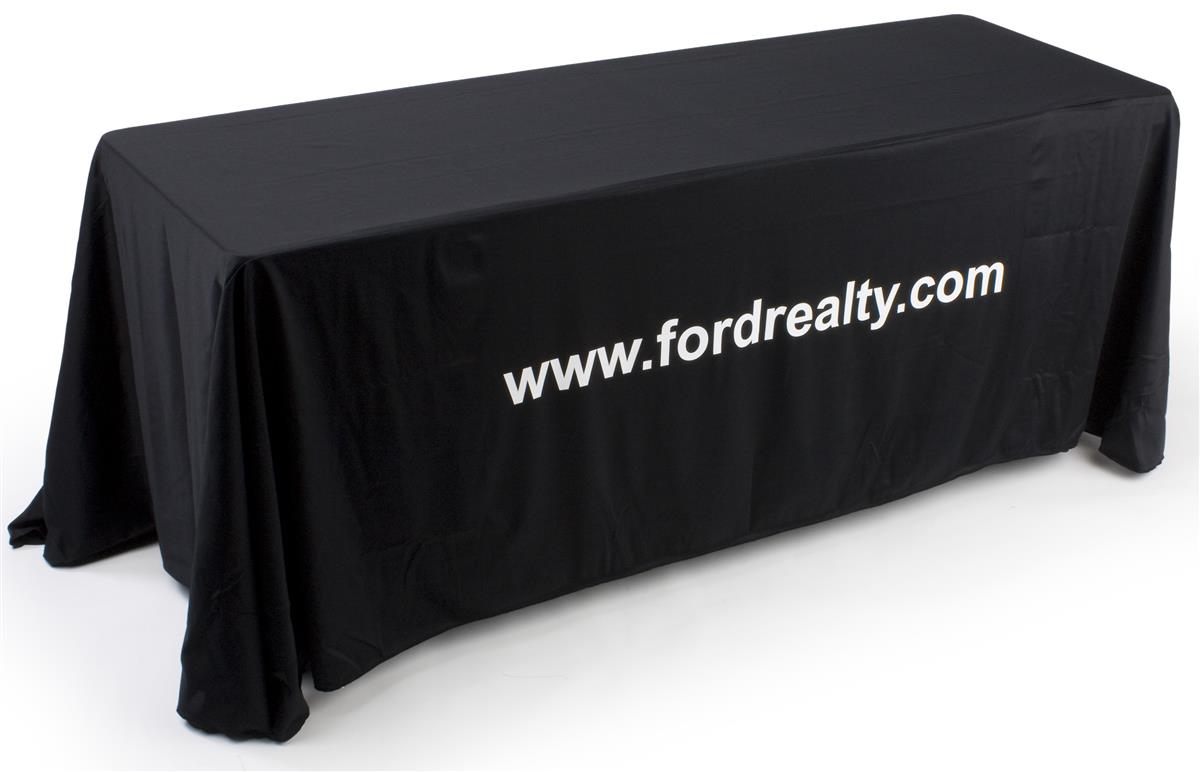 Black table drape 6 foot table dress up those tired old tables for Table 6 hours