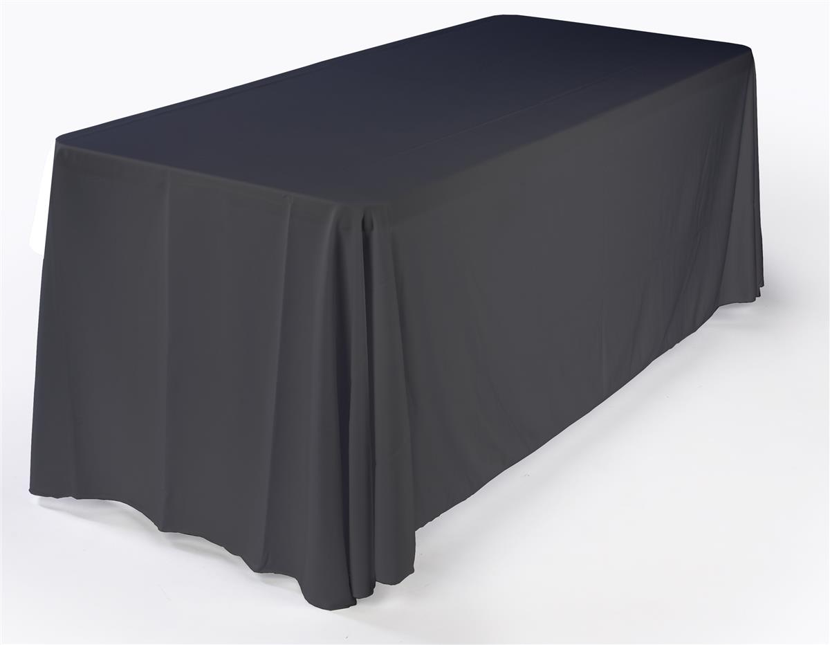 6ft Black Standard Table Cover Trade Show Accessory