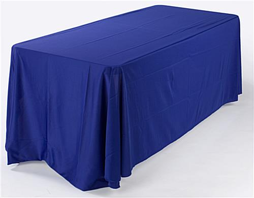 Table Cover In Royal Blue Enhances Displays