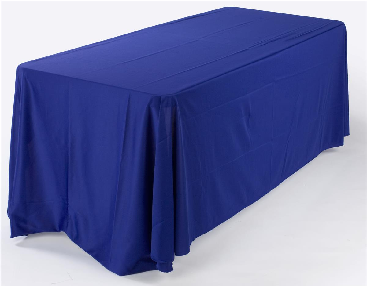 6 Ft Royal Blue Table Cover Adds To The Overall Showcase