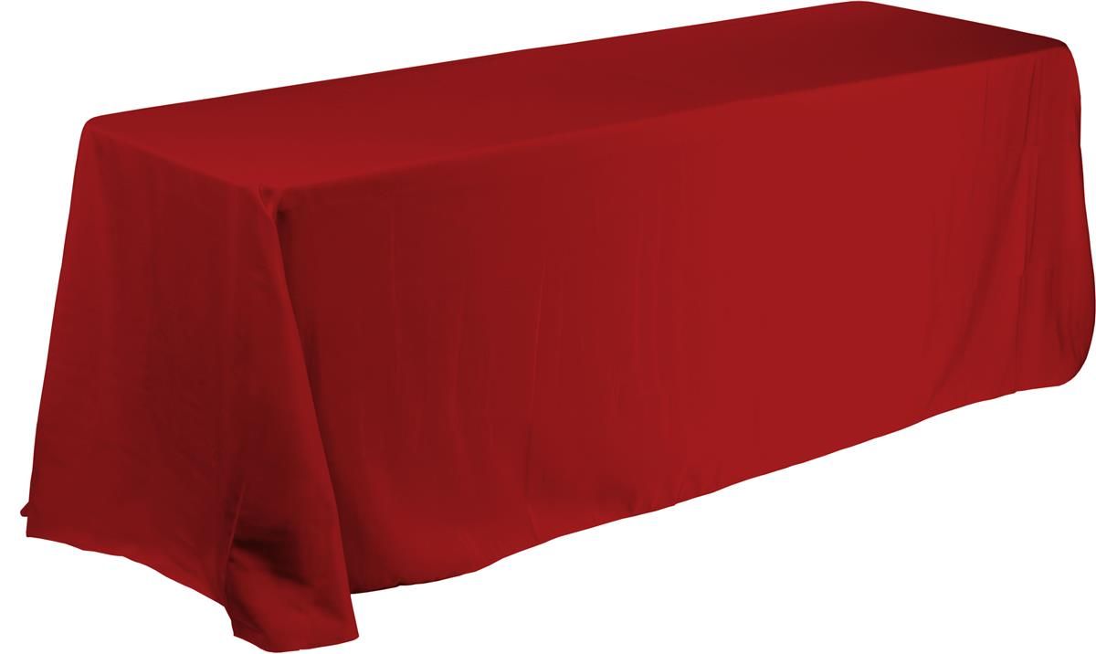 Red Table Cover For 6 Tables Creates An Impressive