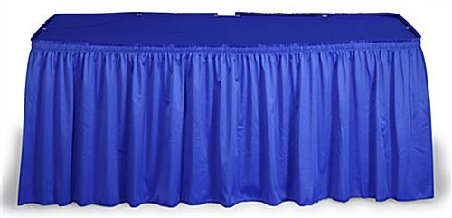 Royal Blue Shirred Table Skirt For 6' And 8' Tables