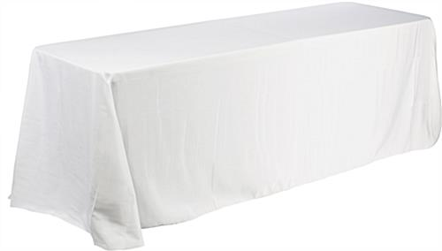 Deluxe White Table Throw For 6ft Table