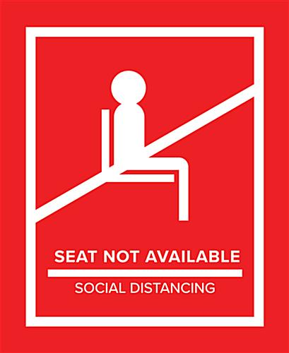 Red social distancing seat markers for crowd control