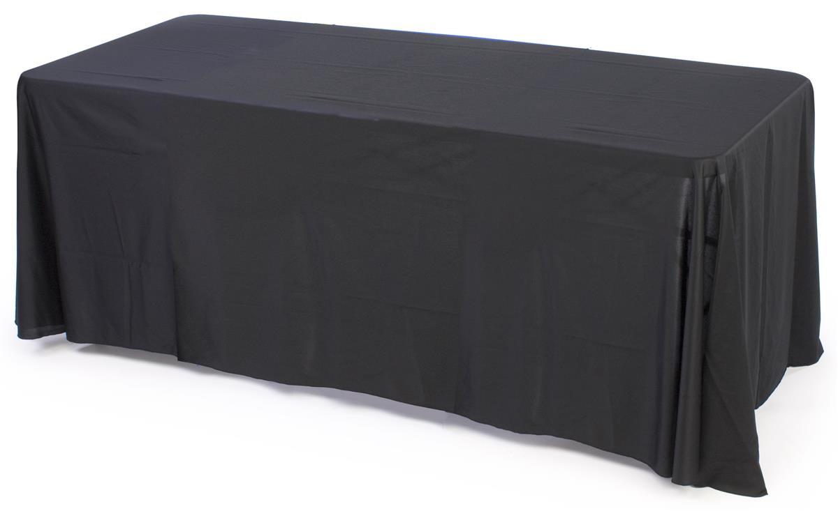 8 Foot Table Cover Black