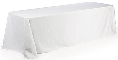 8ft. Deluxe Table Throw: White