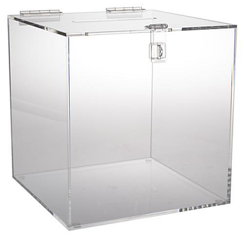 Lead Box Clear Acrylic Suggestion Bin W Locking Clasp