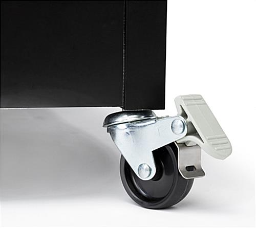 Portable silicone edge counter frame with caster wheels