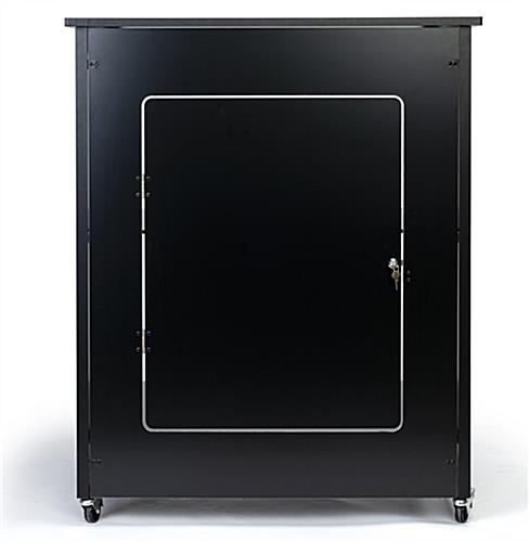 Silicone edge counter frame with lockable storage