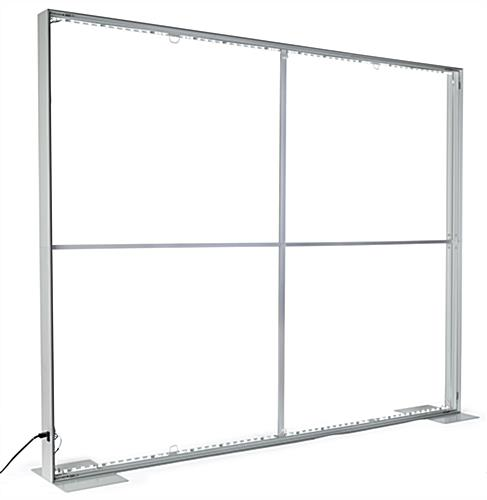 SEG stretch fabric lightbox wall with bright LED light strips inside aluminum frame