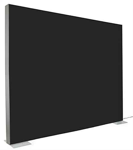 SEG stretch fabric lightbox wall with blackout material on back