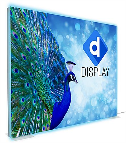 SEG stretch fabric lightbox wall with custom printed polyester front
