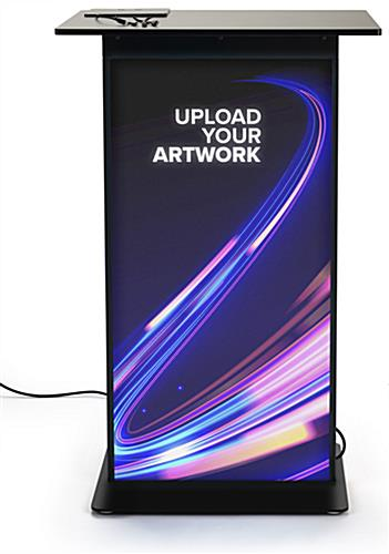 Device charging station with custom printed graphics