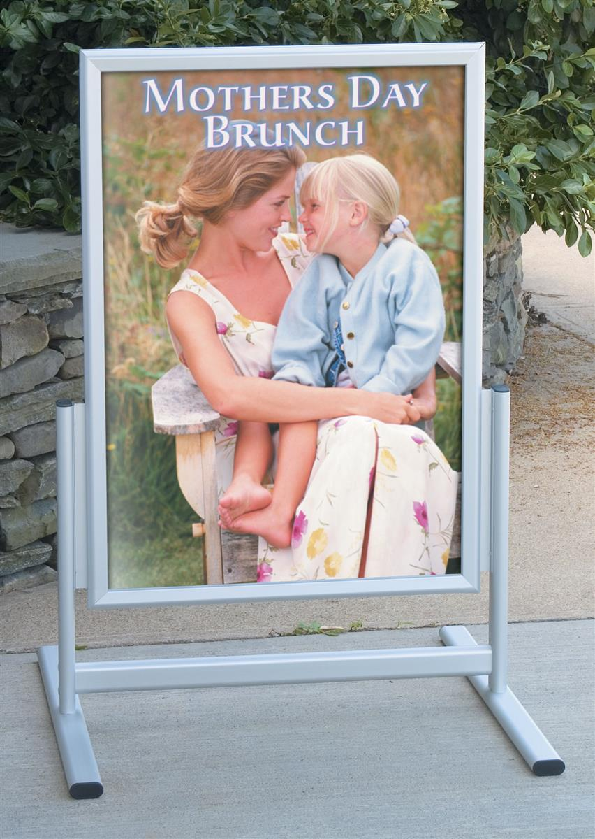 "Portable Pavement Sign | 22"" x 33"" Poster Displays with Lenses"
