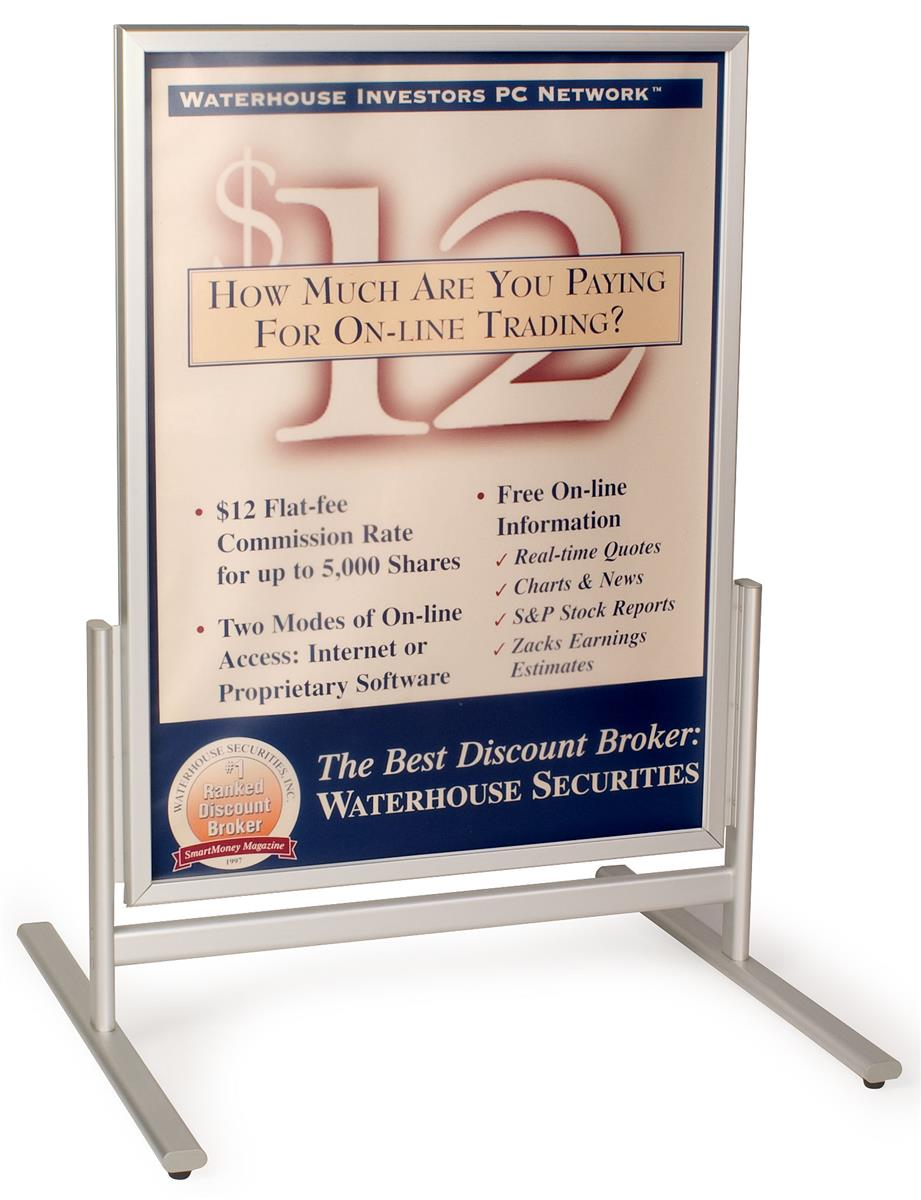 Pavement Signs Exterior Rated Aluminum Poster Holders