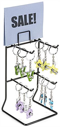 Black Keychain Display Rack