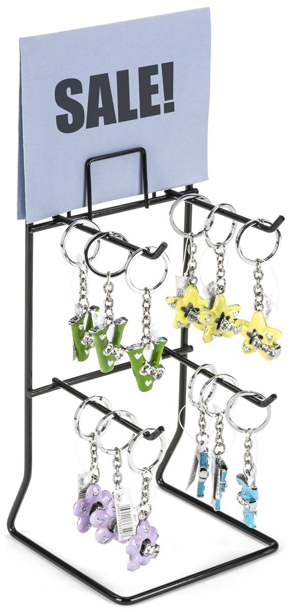 Counter Rack w/ Sign Holder, 2 Tiers, (4) 4 25