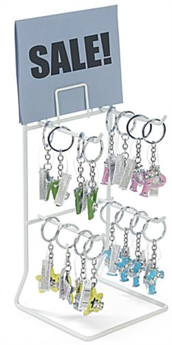 White Keychain Display Rack