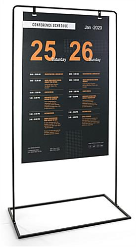 Minimal hanging signage stand with high quality UV printing