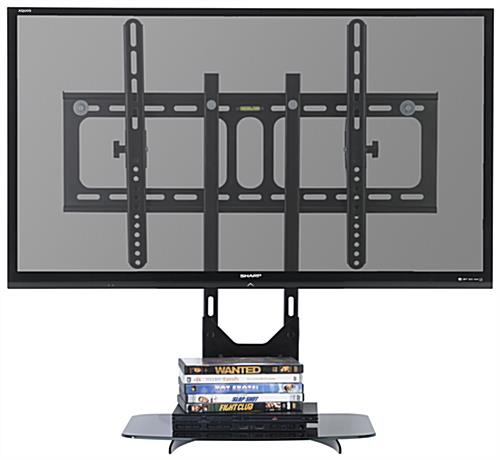 "TV Wall Mount with Floating Glass Shelf for 32"" - 55"" Screens"