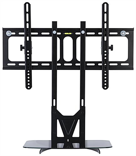 VESA Compliant TV Wall Mount with Floating Glass Shelf