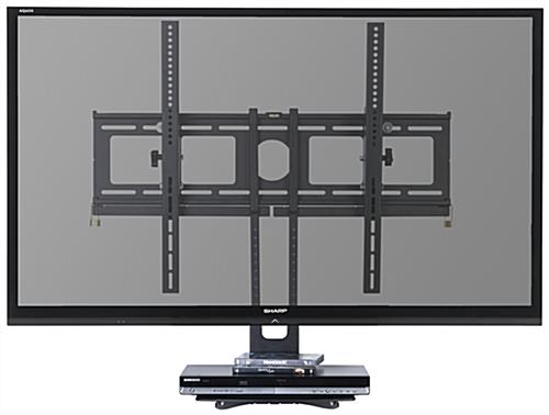 Floating Entertainment Center With Glass Shelf Tilting