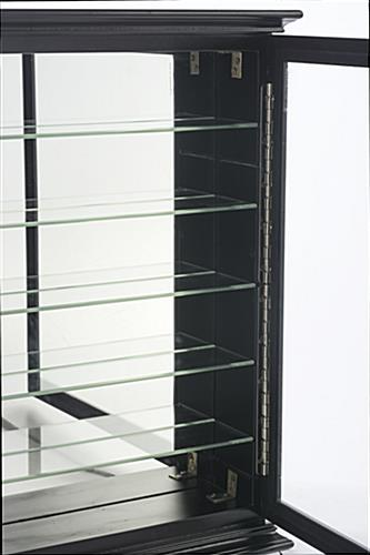 Display Case for Shot Glasses with Latched Door